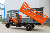 tipper 3 wheel motorcycle/cargo tricycle with hydraulic self-dumping system