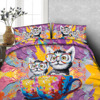 Funny Painted Cats in a teacup 3d bedding set