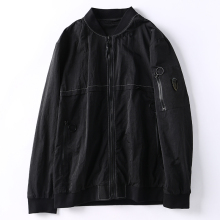 <strong>Mens</strong> Wholesale fashion black <strong>jacket</strong> loose casual streetwear baseball <strong>jacket</strong> for <strong>men</strong> Removable back webbing