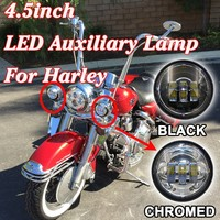 "High quality LED Auxiliary 4-1/2"" Lights Fits Harley Motorcycles 4.5 Inch Auxiliary Lights"