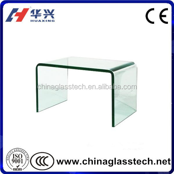 Round or Retangle Size Customized Tempered Glass Dining Table for Home or Hotel