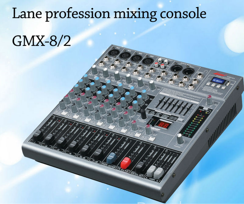 Lane GMX-8/2 8 channels professional USB dj sound mixing console