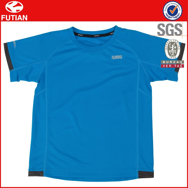 Men's T shirts Sport 100% Polyester T shirts Custom Dri Fit Running T shirt Wholesale In China #FT16X016