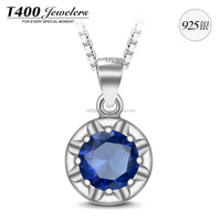 T400 alloy jewelry 925 sterling silver pendant necklace