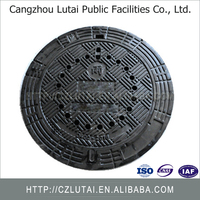 Solid Applied Cast Iron Manhole Cover B125