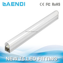 SMD2835 led chips lamp IP22 indoor fluorescent tube 75cm led t5 slim lighting fitting