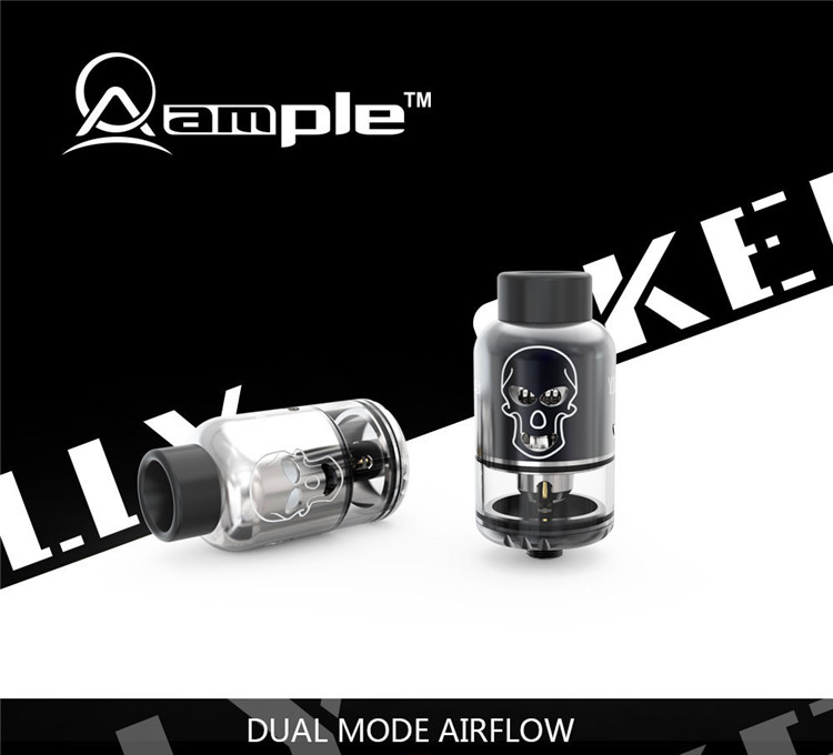 no leaking, huge clouds, great flavor rdta Amplevape Skelly DIY tank