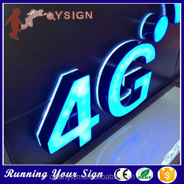Superior quality side lit acrylic alphabet mirror wall letters
