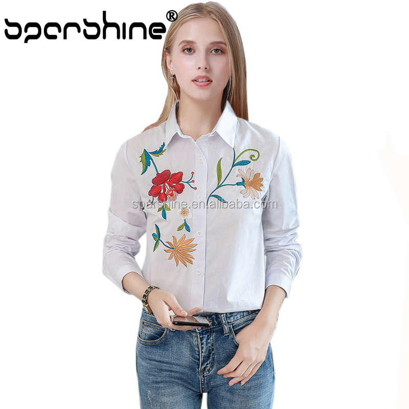 2017 Hot Sell Cotton Embroidery Blouse Vietnam Of Online Shopping