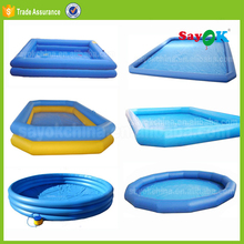 Outdoor inflatable swiming pool custom large inflatable swimming pool play equipment for water game