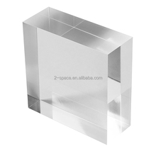 Crystal Plexiglass Lucite Block Solid Cube Clear Acrylic Block