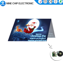 Red christmas music greeting <strong>card</strong> with different colour