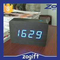 ZOGIFT 2016 Square Unique Wood Table Hand Clock