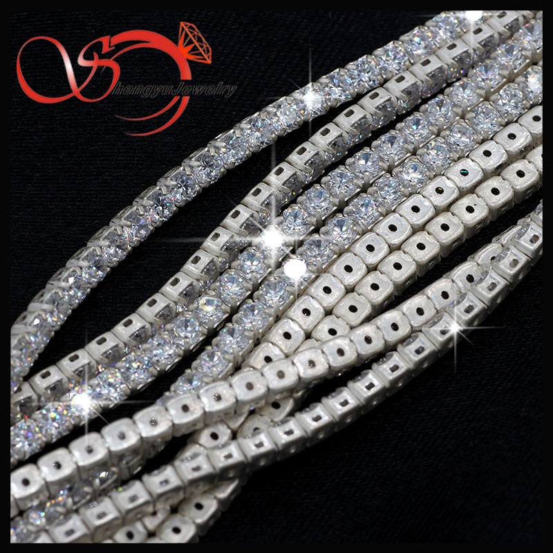 3mm 925 sterling silver without plated gemstone bead roll jewelry chains for meter