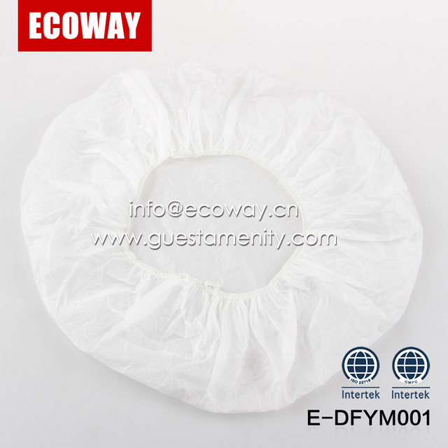 biodegradable white transparent disposable hotel bath shower cap