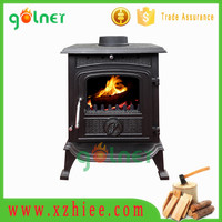 Hot selling cast iron wood stove parts, cast iron fireplace with Chimney