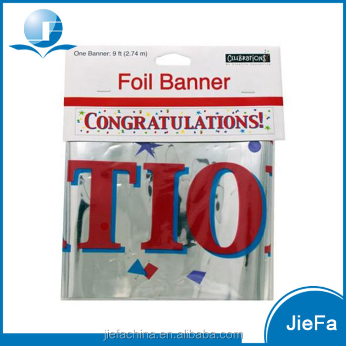 Hanging Promotional Wholesale Cheap Custom Banner Printing, Foil Banner