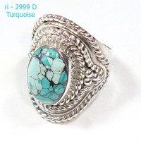 925 sterling silver rings Tibet Ring Semi Precious Nepal Silver Ring Jewelry