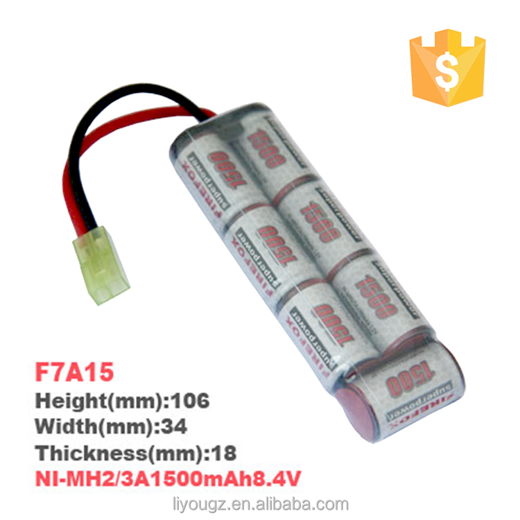 2016 Hight Quality Brand F8A15 NiMH 2/3A 9.6V 1500mAh RC Car Battery Pack