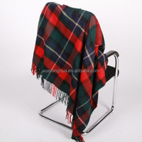 home use wool tartan blanket