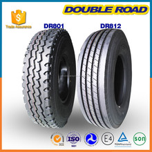 295/80R22.5 DOT ECE certificates China factory brand DOUBLE ROAD steel radial tubeless new bus tire and truck tire
