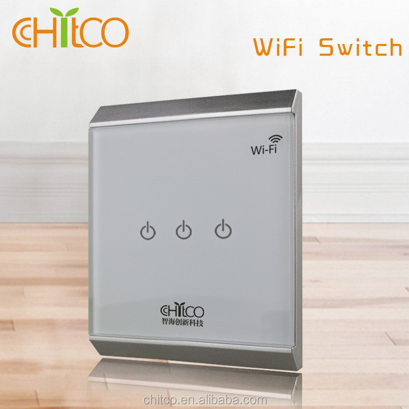 Chitco European standard double gang socket wall switch with light smart home wall socket european