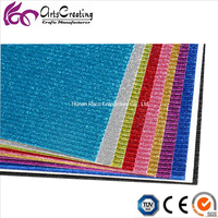 2017 Customized Glitter Coloured Corrugated Cardboard