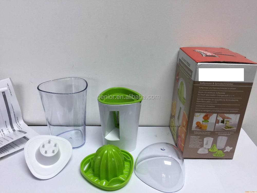 2 in 1 Vegetable spiralizer and Juicer kitchen spiral slicer