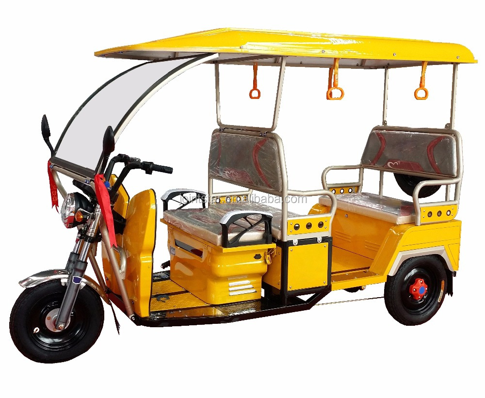 48V800W Three Wheel Electric Passenger Auto Tricycle / Eco-friendly Electric Taxi Rickshaw