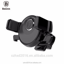 Baseus Mechanical Car Mobile Phone holder 360 Adjustable Auto Clip Car Air Vent Mount Holder For Phone Samsung | Black Wholesale