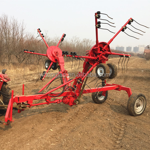 CE cetificated factory supply good quality hay rake/3pl hay tedder