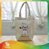 Standard Size Recycling Canvas Cotton Fabic Shopping Logo Tote Bag