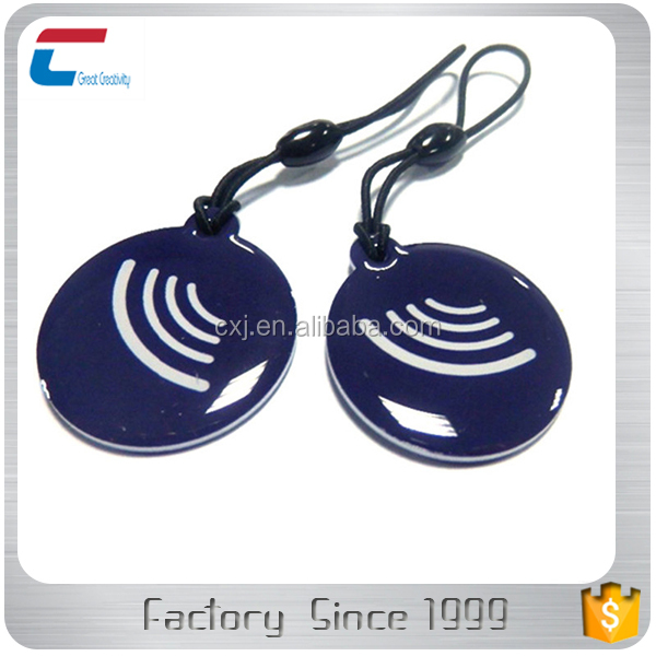 custom rfid key fob waterproof ring epoxy