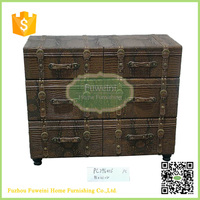 Vintage suitcase design chest of drawers