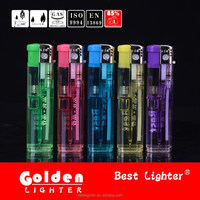 The largest China lighter factory plastic material transparent five color disposable lighter