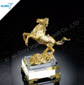 New Gold Metal Horse Trophies With Crystal Base