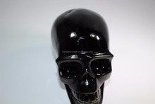 Stone sculpture obsidian rock crystal skull for sale