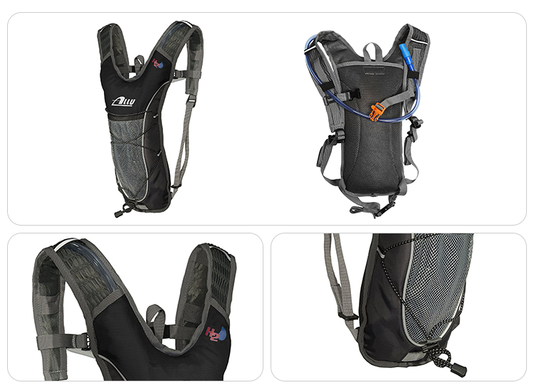 Hot new products FDA approved multi pocket storage black cycling rucksack