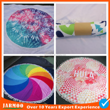 Stock supply customized hot sale round towel