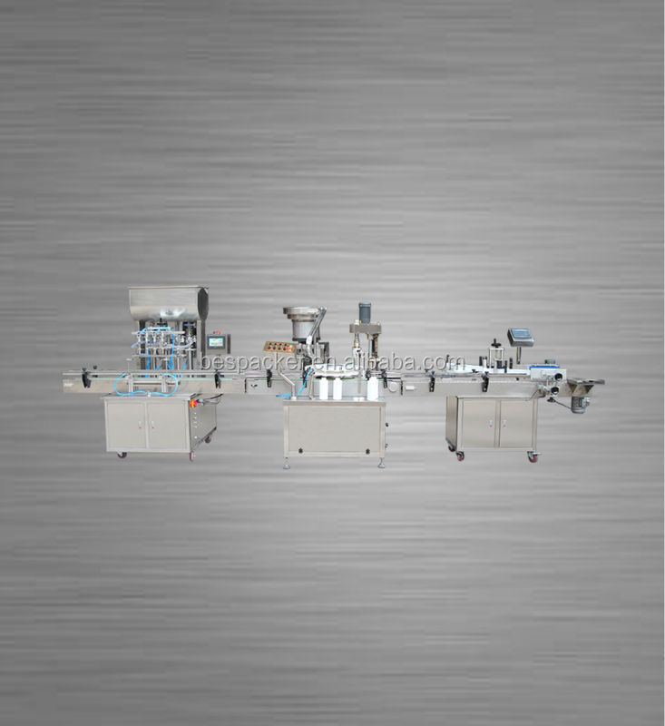 High-speed Automatic Rotary Volumetric Bottle Filling Capping and labeling Machine