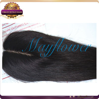 "10"" 3.5*4 silky straight silk top closure Alibaba wholesale 100% virgin BRazilian hair pieces side part/middle/3way parting"