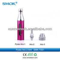 Anyvape bcc clearomizer Smoktech Aro tank with colors availabe with bottom coil system mini bcc smok