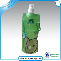 New design lovely cartoon style foldable water bottle