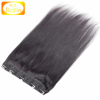 Alibaba Wholesale Indian Human clip in hair extensions for african american
