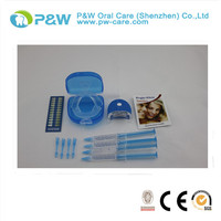 Home Portable quick white Teeth Whitening Kits & Light