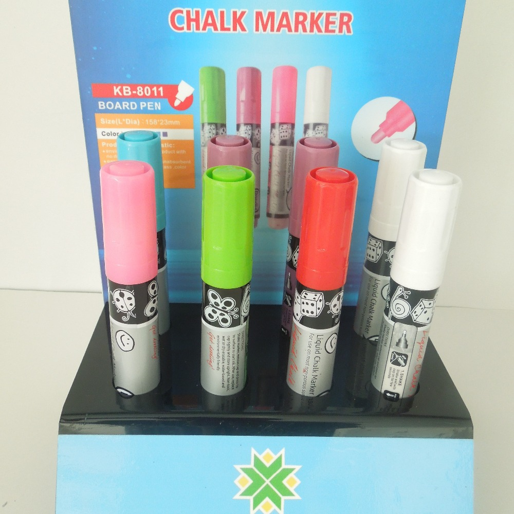 liquid Chalk marker Pens - Pack of 10 neon colour markers - Use on Whiteboard, Chalkboard, Window
