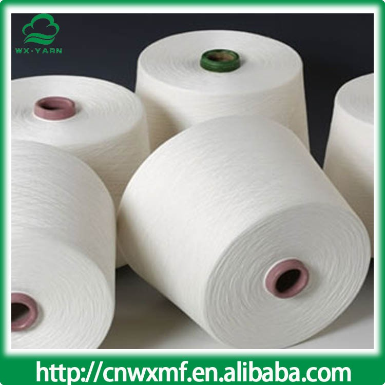Wenzhou factory recycled bleached white cotton yarn