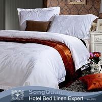 Direct factory queen size jacquard hotel quilt/duvet cover set(SQJC150153)