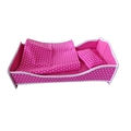 Hot sales kids furniture toys cute plastic cheap baby doll bed