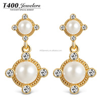 T400 Accessories For Women Jewelry Pearl Earrings